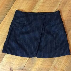 Alexander Wang black pinstripe wool blend skirt 4